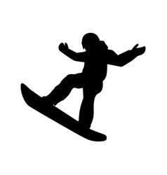 extreme sport snowboard design vector image