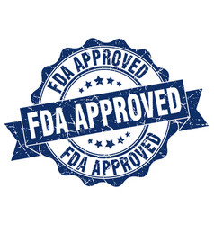 Fda approved stamp sign seal vector
