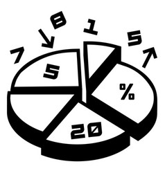 finance pie chart icon simple style vector image