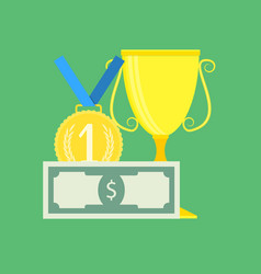financial success and achievement vector image