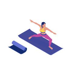 fitness isometric icon vector image
