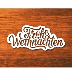 Frohe Weihnachten text on label Christmas card vector