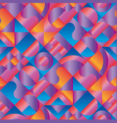 geometric seamless pattern in vibrant vector image