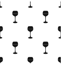 Glass of red wine icon in black style isolated on vector