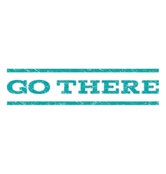 Go There Watermark Stamp vector image