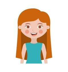 half body girl with long hair vector image