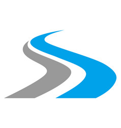 letter s way logo icon vector image