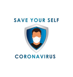 Man with masker corona virus science for medical vector