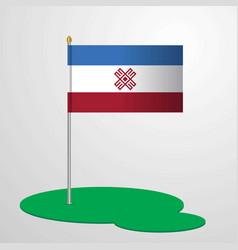 Mari-el flag pole vector
