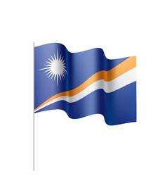 Marshall islands flag vector