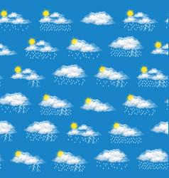 Meteorological symbols seamless vector