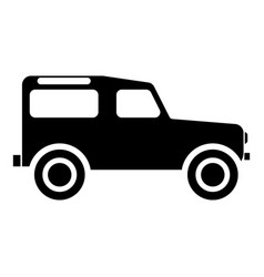 off road vehicle icon black color flat style vector image