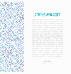 ophthalmologist concept with thin line icons vector image