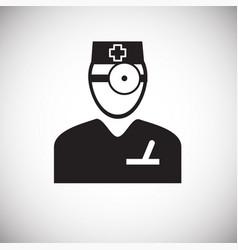 otolaryngologist on white background vector image