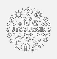 outsourcing round minimal vector image