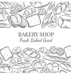 Page design for bakery vector