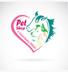 pet shop and veterinary clinic on a white vector image