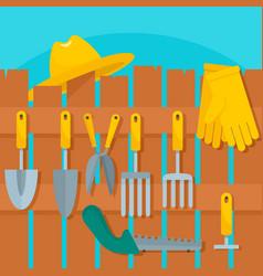 plant tool concept background flat style vector image