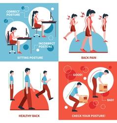 Posture 2x2 Design Concept Set vector