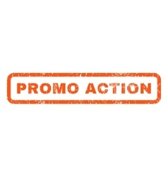 Promo Action Rubber Stamp vector image