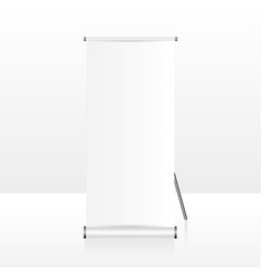 realistic empty and blank roll up banner design vector image