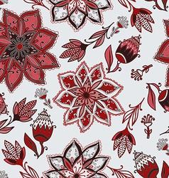 Romantic doodle floral pattern vector