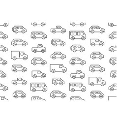 seamless pattern with cars and trucks vector image