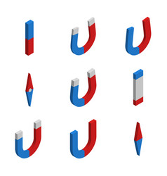 Set of magnets in 3d vector