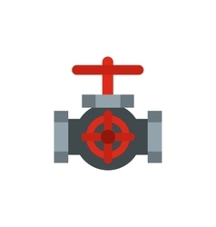 Sewer valve icon flat style vector