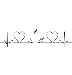 sign love for coffee and tea a symbol tea vector image