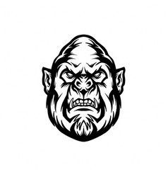 silhouette angry gorilla clipart vector image