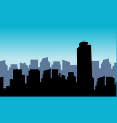 silhouette of mexico building scenery vector image