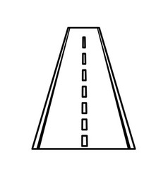 Straight road isolated icon vector