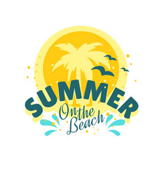 summer summertime themed typographic vector image