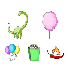 sweet cotton wool on a stick a toy dragon vector image