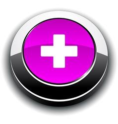 Switzerland 3d round button vector image