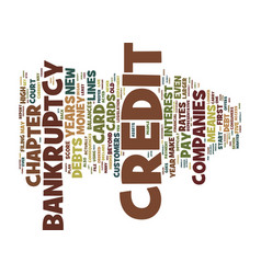 the consequences of credit card company created vector image