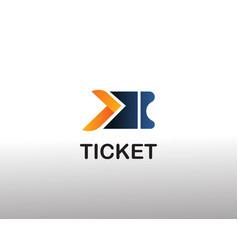 Ticket logo fast logo creative logo vector