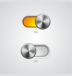 Toggle Switch On and Off position vector