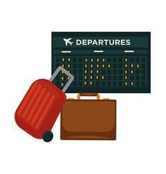 travel airplane world trip flight icon of vector image