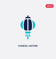 Two color chinese lantern icon from cultures vector