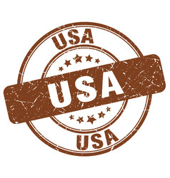 Usa brown grunge round vintage rubber stamp vector