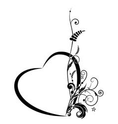 Valentine floral banner vector image