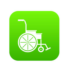 wheelchair icon digital green vector image