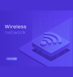 wireless technology vector image