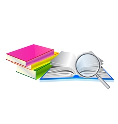 book search vector image vector image