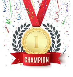 Champion winner number one background template vector image vector image