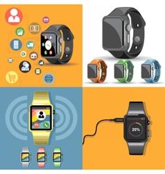 Digital gadget mobile watch vector image