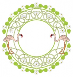 flamingo green vector image vector image