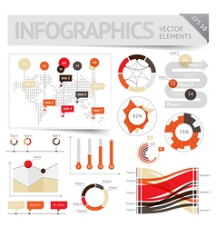 Infographic design elements vector image vector image